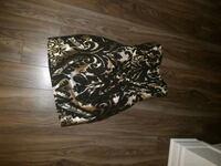 gold and black floral tube-top mini dress Montreal, H2M
