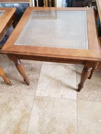 "2 tables with glass.28 square 24 "" tall Las Vegas, 89156"