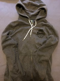 Navy Blue Roots Zip-Up Hoodie