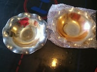 two clear glass candle holders Sacramento, 95842