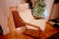 (PICS) Nice white leather and wood chair New York