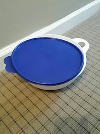 Tupperware white bowl with lid