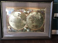 Antique map of globe. Great for a library or study. Aldie, 20148