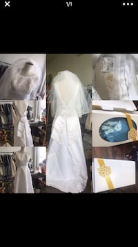 Lady Eleanor Wedding Dresses size 6 and vail  beautiful and great condition Miami, 33165