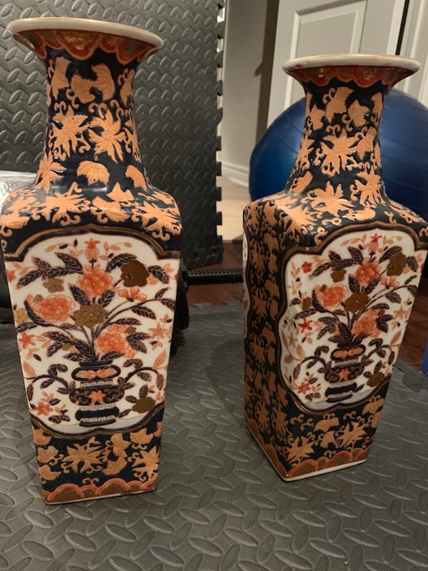 Stunning Asian Inspired Decorative Vases - Pair 8f67f5ea-9beb-44a0-91e1-5929133c22f7