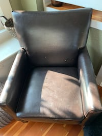 Dark Brown Leather Chair Portland, 97211