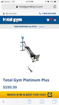 Total Gym Platinum Plus Inver Grove Heights, 55076