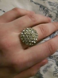 Silver adjustable ring 3745 km