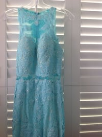 Light blue prom dress, floor length