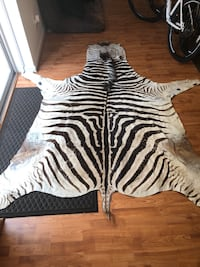 African Burchell Zebra Skin Hide Fairfax Station, 22039