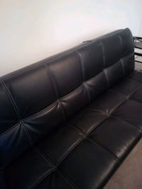 Folding leather couch
