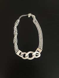 White chunky chain necklace