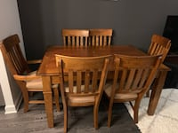 rectangular brown wooden table with six chairs dining set Washington, 20001