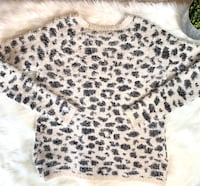 """Forever 21 """"Mohair"""" Leopard Print Sweater"""