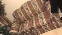 brown and red floral fabric sofa Silver Spring, 20904