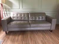 Couch / Sofa - Genuine Leather, Grey