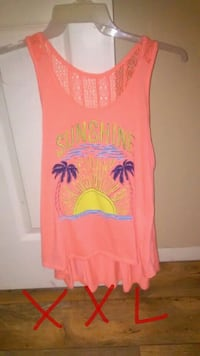 pink and yellow Sunshine-printed tank top Olney, 62450