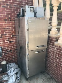 """Continental refrigerator/ freezer works well have all parts. Height 82"""" Depth 34"""" Width 26"""" Needs cleaning make offer Oyster Bay, 11771"""