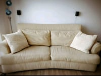 beige fabric 2-seat sofa 23 km
