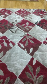 gray, red, and white floral area rug Brampton, L6Y 5R7