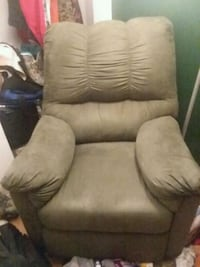 brown leather recliner sofa chair Norwich