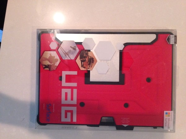 Red and black uag tablet computer case