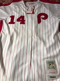 Brand new with tags Mitchell and ness Pete rose throwback jersey.  Still with tags on.   Mineola, 11501