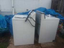 washer and dryer  both for $250 for the set