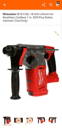 red and black Milwaukee cordless power drill Adelphi, 20783