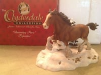 The Clydesdale brown horse figurine collection with box Beallsville, 20839