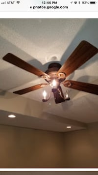 brown 5-blade ceiling fan Woodbridge, 22193