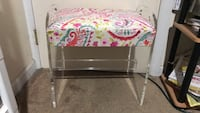 White and pink floral wooden table Amityville, 11701