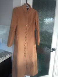 Camel button down trench coat size S new  Calgary, T3A