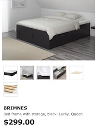 IKEA BRIMNES Queen bed frame with mattress. Independence, 64052
