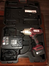 red and black Matco tools cordless impact with case