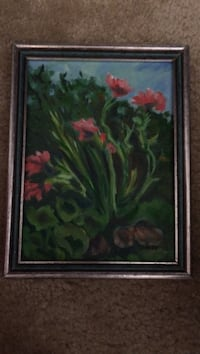 gray green and red floral print frame Oroville, 95966