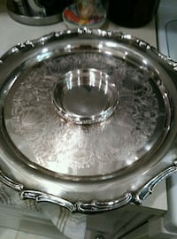round silver-colored tray Land O' Lakes