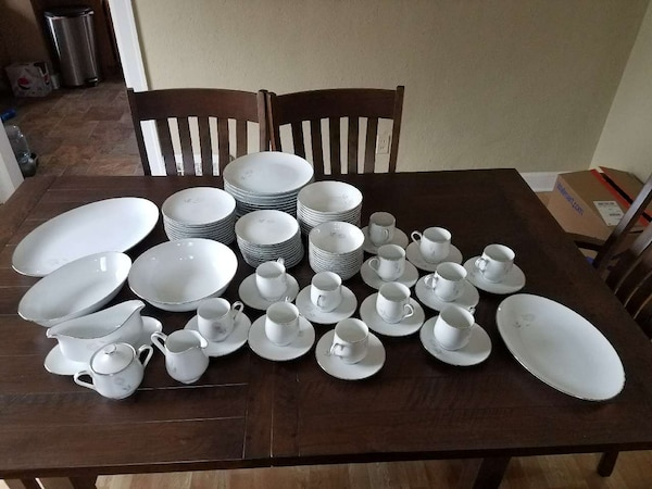 Used Sango Rosanne China 91 Pc Set Service For 12 For Sale In Troy