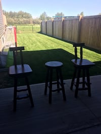 rectangular brown wooden table with four chairs dining set Morinville, T8R 0C9