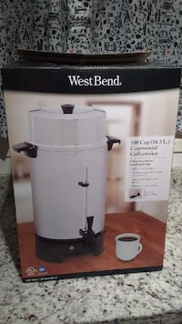 silver Wet Bend commercial coffeemaker box