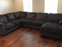 Dark Blue Large Sectional with Ottoman  Plano, 75093