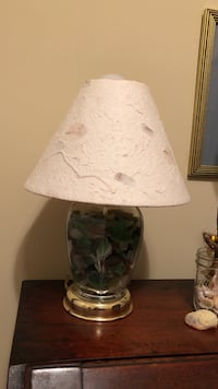 White and green table lamp