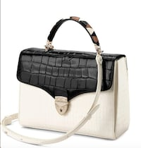 Aspinal of London: Mayfair bag with Stripe Strap LONDON
