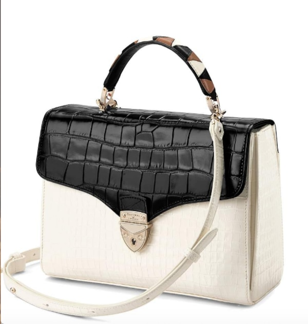 Aspinal of London: Mayfair bag with Stripe Strap