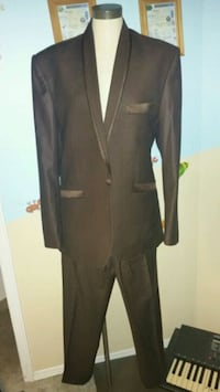 black notch lapel suit jacket and black dress pants Calgary, T3J 2T2