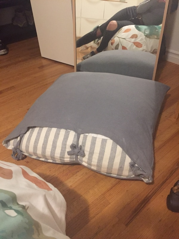 Large grey ikea pillow