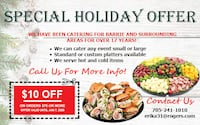 Holiday Catering Special Offer Barrie