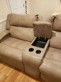 brown leather home theater sofa Alexandria, 22309