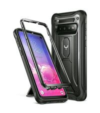 Brand New Kickstand Case for Galaxy S10 - Black Round Lake Beach, 60073