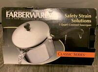 $20 Faberware 3qt Covered Straining Saucepan Used-In Like New Condition Louisville, 40223